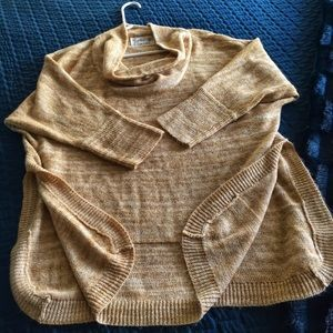 Anthropologie woven top with 3/4 sleeves